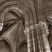 Side Vault In Notre Dame Art Print