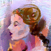 Side View Female In Pastel Shades Art Print