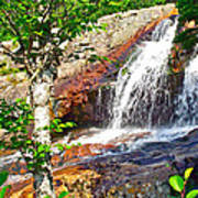 Side View Of Southeast Brook Falls In Gros Morne Np-nl Art Print