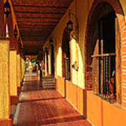 Sidewalk In Tlaquepaque District Of Guadalajara Art Print by Elena Elisseeva