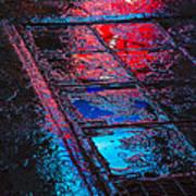 Sidewalk Reflections Art Print