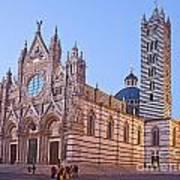 Siena Duomo At Sunset Print by Liz Leyden