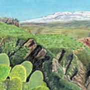 Sierra De Gador Art Print