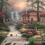 Sierra River Falls Art Print