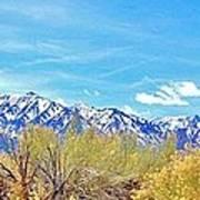 Sierras Peaking Art Print