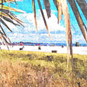 Siesta Key In Fall Art Print
