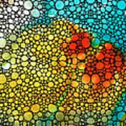 Siesta Sunrise - Stone Rock'd Art Painting Art Print