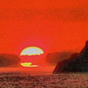 Sifnos Sunset Art Print