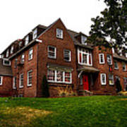 Sigma Phi Epsilon Fraternity On The Wsu Campus Print by David Patterson