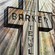 Sign - Barker Temple - Kcmo Art Print