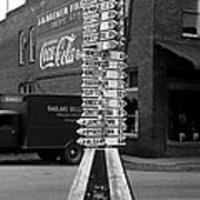 Sign Post In Crossville Tennessee 1939 Art Print