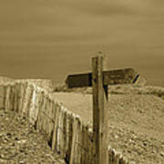 Sign Post To Nowhere 2 Art Print