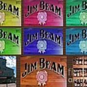 Signs Of Jim Beam Art Print