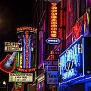 Signs Of Music Row Nashville Art Print