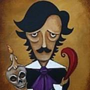 Silence A Poe Caricature Art Print