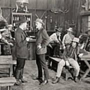 Silent Film Still: Cowboys Art Print