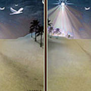 Silent Night - Gently Cross Your Eyes And Focus On The Middle Image Art Print