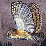 Silent Night Owl Art Print by Anne Shoemaker-Magdaleno