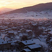 Silent Winter Sunset  Art Print