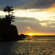 Siletz Bay Sunset Oregon 1 Art Print