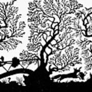 Silhouette Hunting Art Print