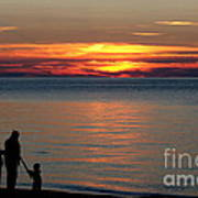 Silhouetted In Sunset At Sturgeon Point Marina Art Print