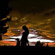 Silhouettes II Art Print by Sergio Aguayo
