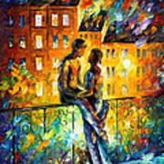 Silhouettes - Palette Knife Oil Painting On Canvas By Leonid Afremov Art Print