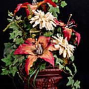 Silk Flowers Art Print by Jeff Burton