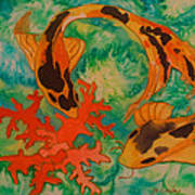 Silk Koi Art Print