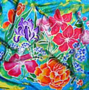 Silk Summer Bouquet Art Print