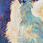 Silkie Rooster Art Print by Tracy L Teeter
