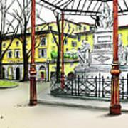Silla Hotel Piazza Demidoff Florence Art Print