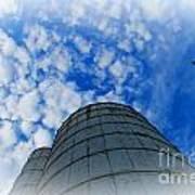 Silo Meets The Sky Art Print