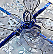 Silver And Blue Wrapped Gift Art Prints Art Print