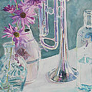 Silver And Glass Music Art Print