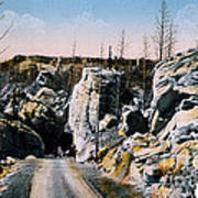 Silver Gate Road Yellowstone Np Art Print