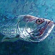 Silver King Tarpon Art Print by Pam Talley
