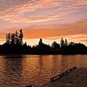 Silver Lake Sunset Art Print