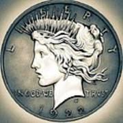 1922 Silver Proof Peace Dollar Art Print