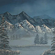 Silver Pine Valley Art Print