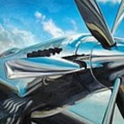Silver Sky Plough Art Print by Riek  Jonker