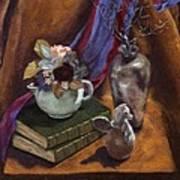 Silver Vase  Art Print by Rebecca Poole