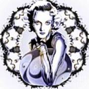 Silverscreenstar Carole Lombard Print by Wu Wei