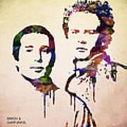 Simon And Garfunkel Art Print by Aged Pixel