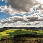 Simonside Hills From Rothbury Terraces Art Print