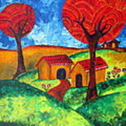 Simple Dreams Acrylic Painting Art Print