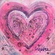 Simple Love Simple Heart Art Print