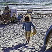 Simpler Times 2 - Miami Beach - Florida Art Print by Madeline Ellis