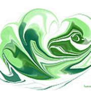 Simplicity In Green Art Print